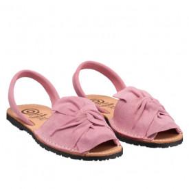 Sandale din piele intoarsa, AVARCA BOW Pink