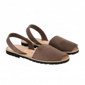 Sandale din piele intoarsa AVARCA MINORQUINES Ebony