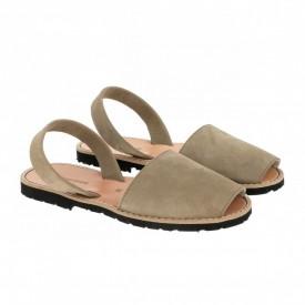 Sandale din piele intoarsa AVARCA MINORQUINES Khaki
