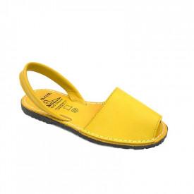 Sandale din piele naturala, AVARCA COLOUR POP Yellow