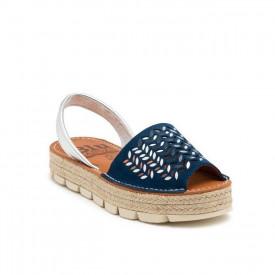 Sandale din piele naturala AVARCA DROPS Blue