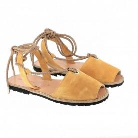 Sandale din piele naturala AVARCA FORMENTERA Safron