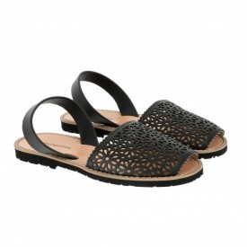 Sandale din piele naturala AVARCA MINORQUINES Laser Black