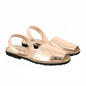 Sandale din piele naturala AVARCA MINORQUINES Metal Somon