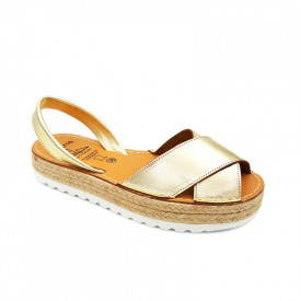 Sandale din piele naturala, AVARCA REVERIA Gold