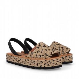 Sandale din piele naturala AVARCA ROSA Black