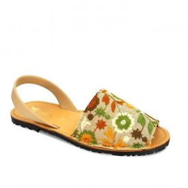 Sandale din piele naturala AVARCA RUSTIC Green