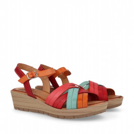 Sandale din piele naturala DOMA Multicolor