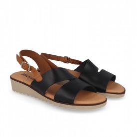 Sandale din piele naturala FOX Black