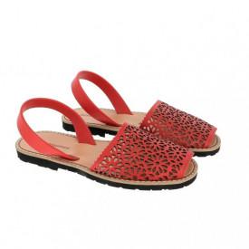 Sandale din piele naturala MINORQUINES Laser Red