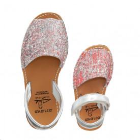 Set mama-copil sandale AVARCA Glitter Pink