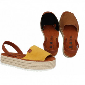 Sandale din piele naturala AVARCA PLATFORM MONO