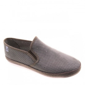 Espadrile perforate din panza CLUB Khaki