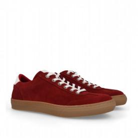 Pantofi sport din piele naturala SMITH Red