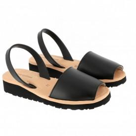 Sandale din piele AVARCA MINORQUINES Gel Black