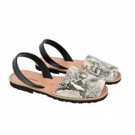 Sandale din piele AVARCA MINORQUINES Reptile White