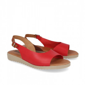 Sandale din piele BLUSANDAL Red