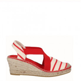 Sandale din piele bumbac natural si piele PONTE Red