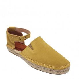 Sandale din piele intoarsa naturala CARLA Yellow