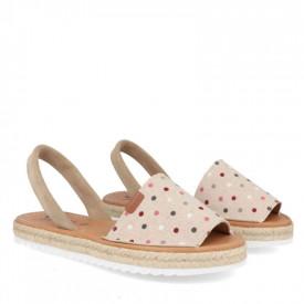 Sandale din piele naturala AVARCA DOTS