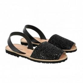 Sandale din piele naturala AVARCA MINORQUINES Glitter Black