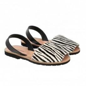 Sandale din piele naturala AVARCA MINORQUINES Zebra