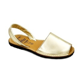 Sandale din piele naturala AVARCA SATIN Gold