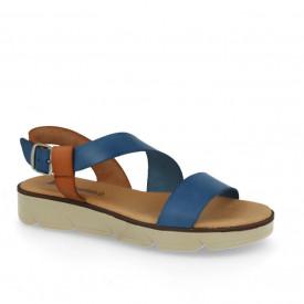 Sandale din piele naturala DANA Blue