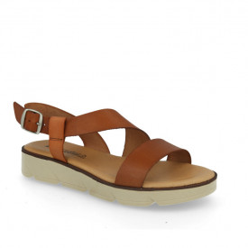 Sandale din piele naturala DANA Camel