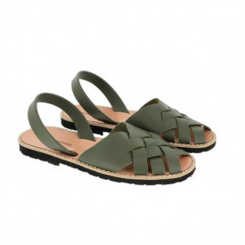 Sandale din piele naturala MINORQUINES Compostelle Khaki