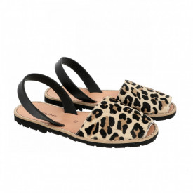 Sandale din piele pony AVARCA MINORQUINES Leopard