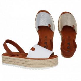Sandale din piele naturala AVARCA PLATFORM METALIC