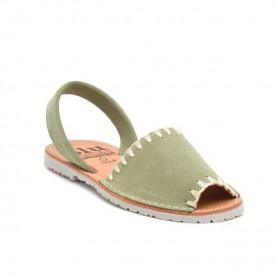 Sandale de dama din piele intoarsa, AVARCA ARTIZAN Green