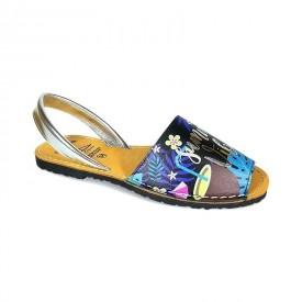 Sandale de dama din piele naturala, AVARCA SUMMER VIBES Black