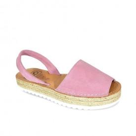Sandale din piele intoarsa, AVARCA ALEGRIA Rose