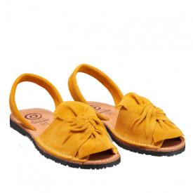 Sandale din piele intoarsa, AVARCA BOW Yellow