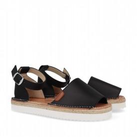 Sandale din piele naturala AVARCA FLAMENCO Black