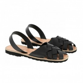 Sandale din piele naturala AVARCA MINORQUINES Compostelle Black