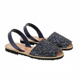 Sandale din piele naturala AVARCA MINORQUINES Glitter Blue