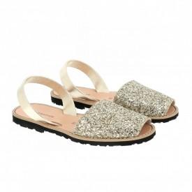 Sandale din piele naturala AVARCA MINORQUINES Glitter Gold