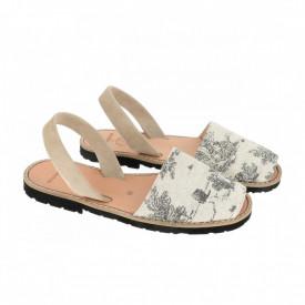 Sandale din piele naturala AVARCA MINORQUINES Jouy Cotonnade