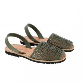 Sandale din piele naturala AVARCA MINORQUINES Laser Khaki