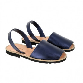 Sandale din piele naturala AVARCA MINORQUINES Metal Blue