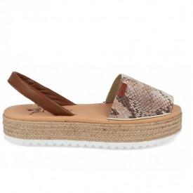 Sandale din piele naturala AVARCA SNAKE Brown