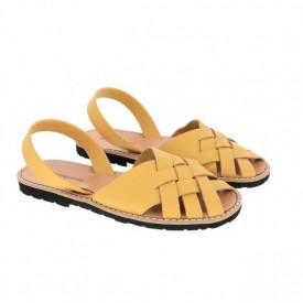Sandale din piele naturala MINORQUINES Compostelle Golden