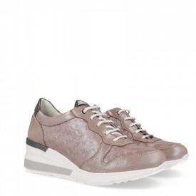 Sneakers din piele naturala GRAZIA Beige