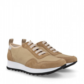 Sneakers din piele naturala MAIRA Beige