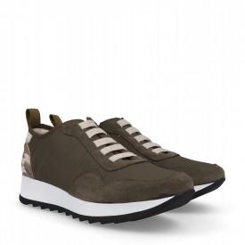 Sneakers din piele naturala MAIRA Khaki
