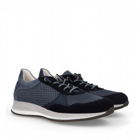 Pantofi din piele naturala STUART Blue