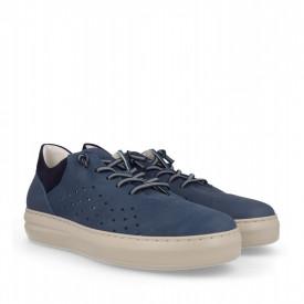 Pantofi din piele naturala TOMY Blue